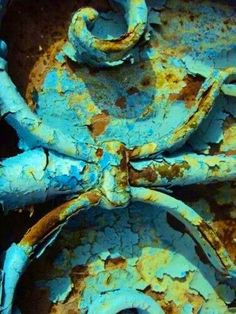Aqua Turquoise Blue and Rust Brown Foto Macro, Rust Never Sleeps, Rust In Peace, Peeling Paint, Aqua, Turquoise, Nature Artwork, Rusty Metal, Abstract Photography