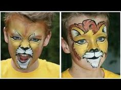 lion face paint - Google Search