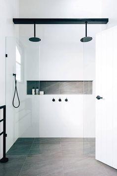 Bathroom Trends, Bathroom Renovations, Bathroom Ideas, Bathroom Designs, Restroom Ideas, Budget Bathroom, Bathroom Updates, Shower Designs, Bathroom Makeovers