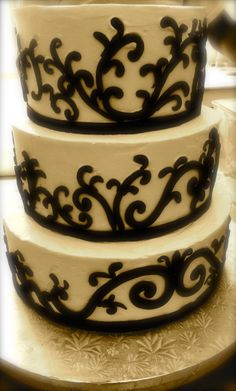 Lee and Marie's Cakery. Buttercream and chocolate wedding cake.