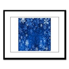 Snowflakes_Background_Texture Large Framed Print