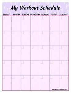 This site has blank and pre-made work out schedules for several ...
