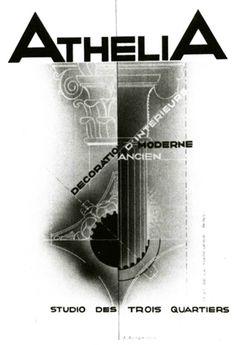 Alexey Brodovitch; Athlelia Catalogue Cover, 1929.   http://www.iconofgraphics.com/Alexey-Brodovitch/#