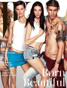 Get Real: The Cover of W Magazine's November 2014 Issue - Saskia de Brauw, Mariacarla Boscono, and Steve Milatos