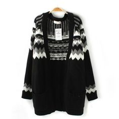I am so happy to find the Black Geometric Jacquard Long Cardigan Sweater from ByGoods.com. I like it <3!Do you like it,too?
