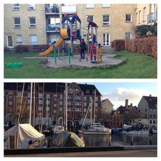 Christianshavn kanaler. Køb en kop kaffe ved Christianshavn Torv og så er det ellers om at finde et spot. Ved Strandgade kan man nemt finde en rolig oase, hvor man kan nyde bådudsigt og kaffe, mens barnet leger på legeplads.