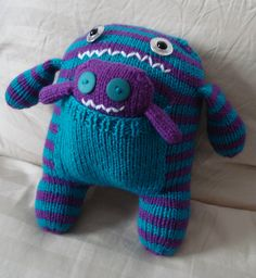 knitted monster pattern