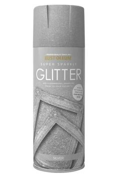 Rust-Oleum Super Sparkly Glitter Spray Paint in Silver provides a full coverage of radiant shimmer on many surfaces. Perfect for adding a special touch to craft and hobby projects.  This paint can be applied to many surfaces including: wood, metal, wicker, glass, ceramic, pottery, polystyrene, paper, plastic and more.  For added protection, top coat with the Rust-OIeum Super Sparkly Glitter Clear Protective Sealer.