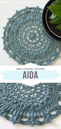 Aida Free Crochet Pattern This stunning doily will surely serve as the most unique decoration of your table this spring. It's so intricate! It has a floral center and some structural stitches… Crochet Gratis, Crochet Diy, Crochet Round, Crochet Home, Thread Crochet, Crochet Coaster, Lace Doilies, Crochet Doilies, Crochet Stitches Patterns