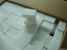 Magic Eraser is made of melamine foam.  Cheaper to purchase foam and cut to size.