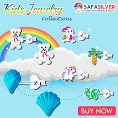 We are the wholesale supplier of kid's jewelry exclusively made at our Thailand factory. For more designs, kindly browse through the kid's jewelry section. #silver #kidsjewellery #kids #bracelets #earrings #jewelry #wholesale #handmade #silverjewelry #necklace #love #accessories #sterlingsilver #style #jewelryaddict #pendant #crystals #cute Wholesale Silver Jewelry, Kids Jewelry, Buying Wholesale, Jewelry Collection, Jewelry Design, Kids Bracelets, Pendant, Cute, Thailand