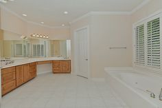 Master bathroom separate vanities & very spacious closet