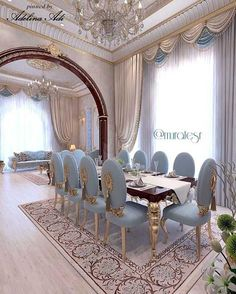 Ideas For House Beautiful Dining Room Interiors Luxury Dining Tables, Luxury Dining Room, Elegant Dining Room, Beautiful Dining Rooms, House Beautiful, Dining Decor, Dining Room Design, Sofa Design, Room Interior