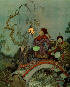 "Christian Andersen's ""Nightingale,"" by Edmund Dulac."