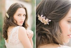 gold floral headcomb from #TessaKim