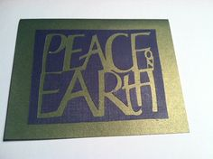 Peace On Earth Holiday Card on Etsy, $3.99