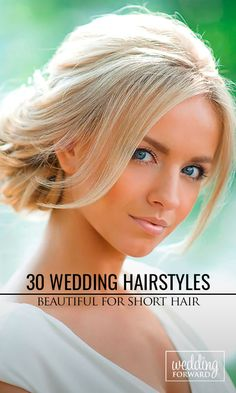 30 Short Wedding Hairstyle Ideas So Good You'd Want To Cut Your Hair ❤ If your short hairstyle is part of your individual style, then make it to highlight your image on the wedding day. See more: http://www.weddingforward.com/wedding-hairstyle-ideas-for-short-hair/ #weddings #hairstyles