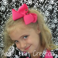 Solid Color Boutique Bows by angelhaircreations on Etsy, $3.50