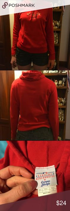 Cute Fitted Red Sox Hoodie This is a cute one to wear to the ball park on a nice spring night!! Gotta love it. There is a small hole in the hand pouch right at the top. MLB Merchandise Tops Sweatshirts & Hoodies