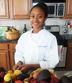 Chef Haile Thomas, 13, shares her heathy family recipes: http://www.lifescript.com/health/centers/diabetes/articles/culinary_whiz_kid_haile_thomas_dishes_up_healthy_meals.aspx