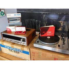 Pioneer SX-828 stereo receiver and Thorens TD 166 MkII  original boxes/paperwork AND a pair of JBL Model 4311 loudspeakers! This stuff is clean! Available...