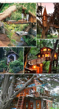I would definitely live in these tree houses! Love them <3