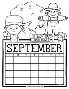 Free set of Calendar for students to Write and Color. This set is super cute and features monthly themes and holidays. Perfect for Preschool Daily Caledar Kindergarten Calendar, Preschool Calendar, Classroom Calendar, Kids Calendar, Coloring For Kids, Free Coloring, Coloring Pages, Adult Coloring, Free Preschool
