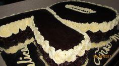 Torta de Moka con motivo de 70 años – V& M Cakes