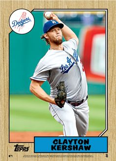 Clayton Kershaw    **    Dodgers Blue Heaven: Herschiser Error Highlights Topps Newest Jumbo Wall Art Cards