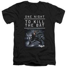 Batman Arkham Origins/One Night Short Sleeve Adult T-Shirt V-Neck in