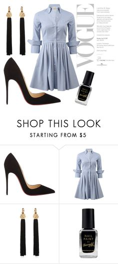 """sleek chic"" by brandy85 ❤ liked on Polyvore featuring Christian Louboutin, Michael Kors, Yves Saint Laurent and Barry M"