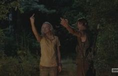 Daryl & Beth giving it the finger - S5.1 No Sanctuary