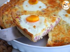 Ham and eggs quiche, Recipe Petitchef Breakfast And Brunch, Breakfast Recipes, Finger Food Appetizers, Finger Foods, Appetizer Recipes, Quiches, Aperitivos Finger Food, Baby Food Recipes, Cooking Recipes