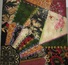 I can finally show you my completed crazy quilt block made for our 2008-2009 guild president. She received her quilt last night. I was so pl...