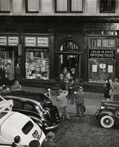 Operators of a wire service arrested at their headquarters after a gambling raid, 1941, Weegee