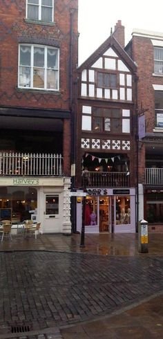 Our Chester shop (on Bridge Street) part of a Tudor Rectory with the gorgeous Mad Hatter's Tea Rooms above us...