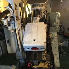 The breach of one of the main guns aboard the HMS Belfast...