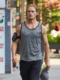 Sam Heughan | Out & About in New York ·