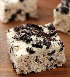 Oreo Rice Krispie Treats – unbelievably good!.