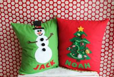 My Sister's Suitcase: Kids Christmas Pillows