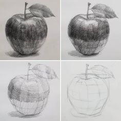 drawings Apples during the basic course . - -Jolly drawings Apples during the basic course . - - 21 Light Shadow Object Pencil Drawing Ideas 61 Ideas for fruit drawing pencil sketches The 26 Cup Pencil Drawing Ideas اسكندريه ليه ( Art Drawings Sketches Simple, Pencil Art Drawings, Realistic Drawings, Easy Drawings, Drawing Ideas, Shading Drawing, Contour Drawing, Basic Drawing, Pencil Shading Techniques