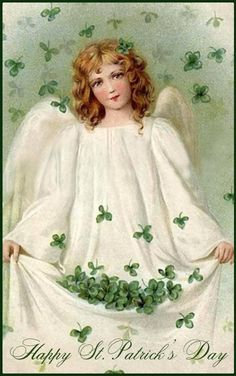 st. patricks day pictures | Clip Art of a Vintage St Patricks Day Card