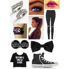 Untitled #440 by beau-4-ever on Polyvore featuring polyvore, fashion, style, Disney, Topshop, Converse and Spring Street