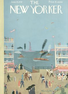 The New Yorker - Saturday, June 25, 1932 - Issue # 384 - Vol. 8 - N° 19 - Cover by : Adolph K. Kronengold