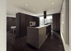 Küchentheke und Kücheninsel in Eins aus Beton
