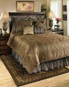 Beautiful bedroom beautiful bedding beautiful brown color