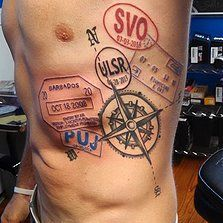 Passport Stamp Tattoo