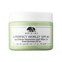 10 Best Age Prevention Skincare Products - #4 Origins A Perfect World™ SPF 40 Age-Defense Moisturizer with White Tea #rankandstyle