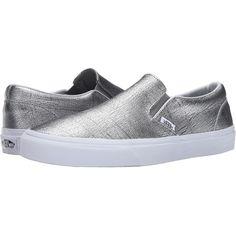 0b4992862249c3 Vans classic slip on foil metallic silver true white