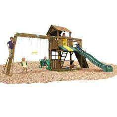 Cambridge Swing Set with Monkey Bars by Creative Playthings